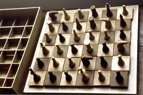 "Valeriy Gerlovin ""Bread Chess Game"" 1980, conceptual object made from bread"